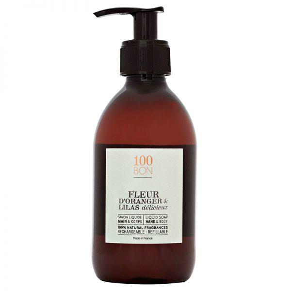 savon-liquide-fleur-oranger-lilas-100bon